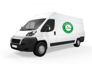 Halal Ready Made Meals Delivery Van